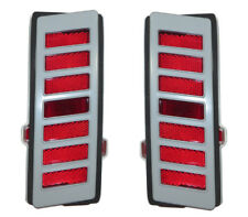 70-72 Chevelle Rear Quarter Panel Side Marker Light Lamp with Gasket & BEZELS PR