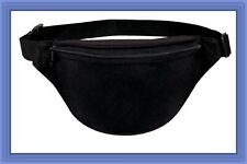 10 Pk Fantasybag Black 2-Zipper Fanny Pack