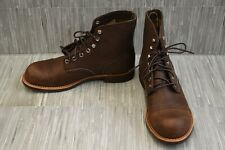 Red wing Iron Ranger 6-Inch Harness Leather 08111 Boot, Men's Size 8.5 E2, Amber