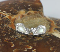 Wholesale Price, 925 Sterling Silver Stud Earrings with Mother of Pearl