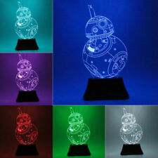 3D LED Illusion Nightlight Star Wars BB8 Desk Light Table Lamp 7 Color Change UK