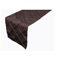 Marrón Chocolate Pliegues Camino de mesa