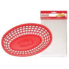 TableCraft Coca-Cola / Coke 4pc Food & Snack Red Serving Basket & Liner Set