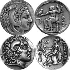 Alexander the Great, 2 Greek Coins, Percy Jackson Fans, Greek Mythology (1+34-S)