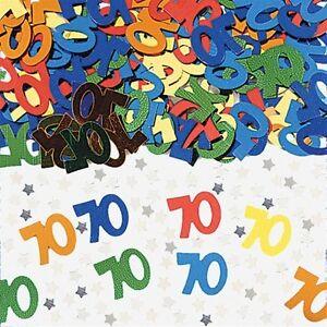 EuroWrap MULTI AGE 70 Table Confetti Happy 70th Birthday 14 Gram Party Sprinkles