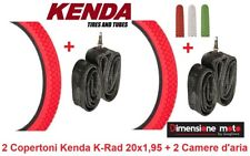 "2 Copertoni ""KENDA"" 20x1,95 K-RAD Rosso +2 Camera per Bici 20"" MTB Mountain Bike"
