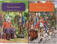 Lot of 2 Children's Classics Books Oliver Twist & Treasure Island. HB 2007