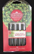 12 Navidad SCENTSICLES Perfumado palos frangrance olor a árbol De Navidad Nieve Berry