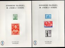 HOJAS RECUERDO, EDIFIL 53/54  ESPAMER 77 - 1977. MISMO NÚMERO