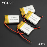 4Pcs 3.7V 300mAh Lipo Battery 602030 With PCB For MP3 GPS Bluetooth Headset 898