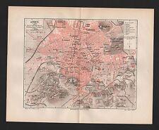 Landkarte city map 1897: Stadtplan Athen. Griechenland Greece Metropolis Olympie