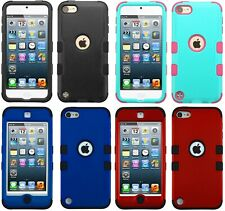 For iPod Touch 5th 6th & 7th Gen - Hard Hybrid Shockproof Armor Shell Case Cover