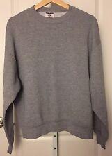 Vtg Jerzees Gray L/S Single Stitch Sweatshirt Size Large Made in Usa