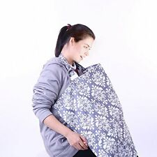 Nursing Cover For Breastfeeding 100% Breathable Cotton with Storage US SELLER