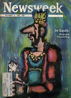 1965 Newsweek December 13 DeGaulle and France elections; Ku Klux Klan; Watts