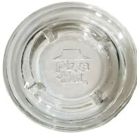 Vintage Pizza Hut Clear Glass Round Restaurant Ashtray AS IS