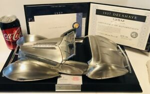 Franklin Mint 1:12 1937 DELAHAYE 135 M Solid Pewter - LE 177 of 1000 Spectacular
