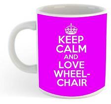 KEEP CALM E LOVE sedie a rotelle RUGBY Mug - Rosa