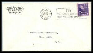1941 US Ad Cover - Brown & Clayton, Philadelphia, PA to Gloversville, NY H13