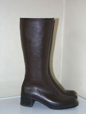 DERRI Vintage Womens size UK 6  Brown   Knee High Boots Fleece Lined