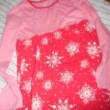 nwot L.L Bean pink red floral cotton dress girl 8 free ship USA