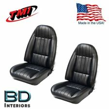 1971 - 1977 Chevy Camaro Black Front & Rear Seat Upholstery Set TMI  Made in USA