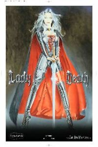 Lady Death Print sexy CHROME signed Limited print run