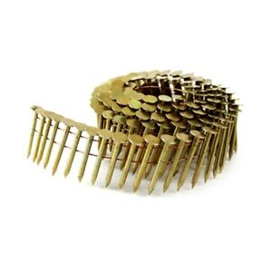 """meite 15 Degree Round Head 1"""" to 1-3/4'' ×.120'' Smooth Shank Coil Roofing Nails"""