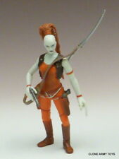 STAR WARS Aurra Sing BOUNTY HUNTER POWER OF THE JEDI COLLECTION POTJ LOOSE