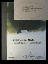 Arnulf Rainer Buch Orig. signed signiert autograph Signatur Autogramm