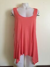 Ambiance Apparel Womens Coral See Through Size 2X Blouse Top Shirt Casual NWOT