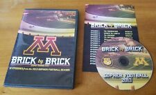 Brick By Brick: Gopher Football 2013 (Dvd) University Of Minnesota college u m