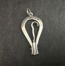 More details for antique victorian novelty silver travelling button hook