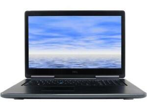"""Dell Precision 7710 Laptop 17.3"""" i7-6820HQ 16GB 512GB SSD Windows 10 Pro"""