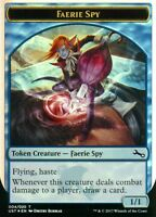 2x Faerie Spy Token FOIL | NM/M | Unstable | Magic MTG