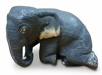 Elefant Statue Skulptur Schnitzerei Dekoration Tier Elefanten Teak Massivholz