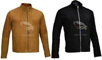 Men's James Bond Brown/Black Suede Daniel Craig Spectre Morocco Leather Jacket