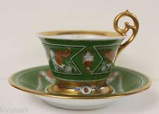 A Fine WISSMANN DRESDEN Empire Style Cup And Saucer, Ca 1890