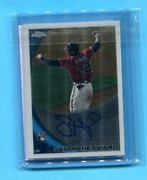 JASON HEYWARD CHICAGO CUBS 2010 TOPPS CHROME AUTOGRAPHED ROOKIE CARD #174