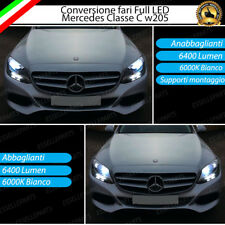 CONVERSIONE FARI FULL LED MERCEDES CLASSE C W205 6000K XENON LED CANBUS NO ERROR