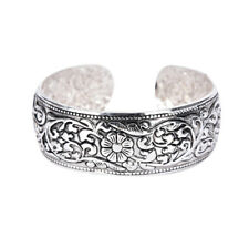 Lucky Flower Bangle Cuff Bracelet Rs New Tibetan Silver Totem Bangle Carved
