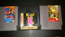 (3) NINTENDO NES GAMES - RALLY BIKE + KLAX + all pro basketball  - RETRO TESTED