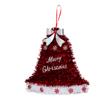Christmas Bell Tinsel Wall Decoration Hanging Sign