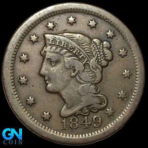1849 Braided Hair Large Cent --  MAKE US AN OFFER!  #K8815