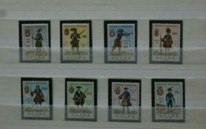 Port. GUINEA MNH full set #311-18 1966 8 stamps Military Uniforms Army Guiné