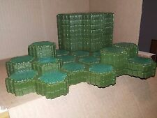 Heroscape Swamp Grass Green Terrain Hex Tiles Pieces Parts lot of 43 MB WotC