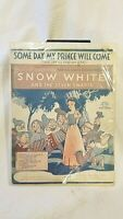 Snow White and the Seven Dwarfs orignal sheet music from 1937