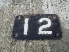 No.12 Cast Iron Plate - Railway Plate - Engine Shed Or Bridge ? As Photo