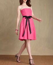 Tommy Hilfiger Faille Pink Fit-N-Flare Strapless Cocktail Dress M 10