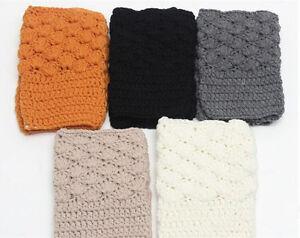 Winter Women Leg Warmer Cuffs Knitted Socks Crochet Leggings Boots Ankle Toppers